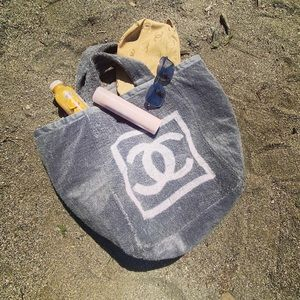 CHANEL Vintage cotton beach Tote